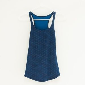 Lululemon Geometric Pattern Blue Tank Top